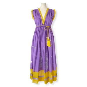 MYLAN / Color combi metalic dress (Orchid)