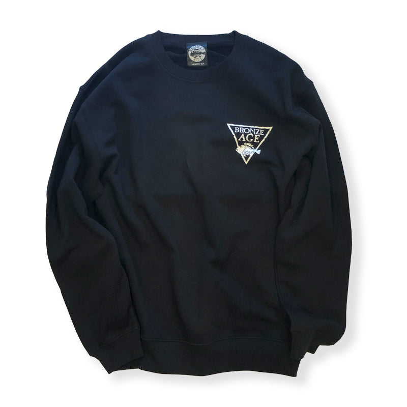 BRONZE AGE / LOGO CREW SWEAT (BLACK)