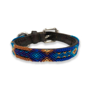 ECLECTIC ARRAY / DOG COLLAR (Deep Blue/XXS)