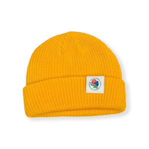 VIOLA&ROSES / LABELED BEANIE F20  (YELLOW)