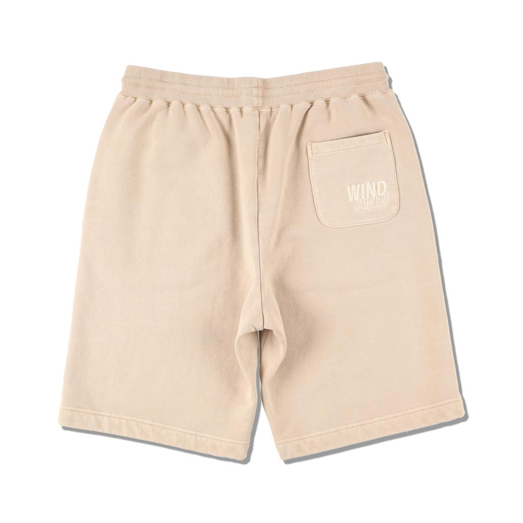 WIND AND SEA / SEA (pigment-dye) SWEAT SHORTS (SAND)