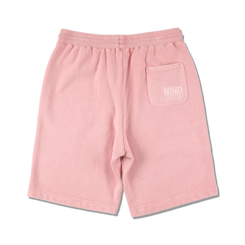 WIND AND SEA / SEA (pigment-dye) SWEAT SHORTS (FS PINK)