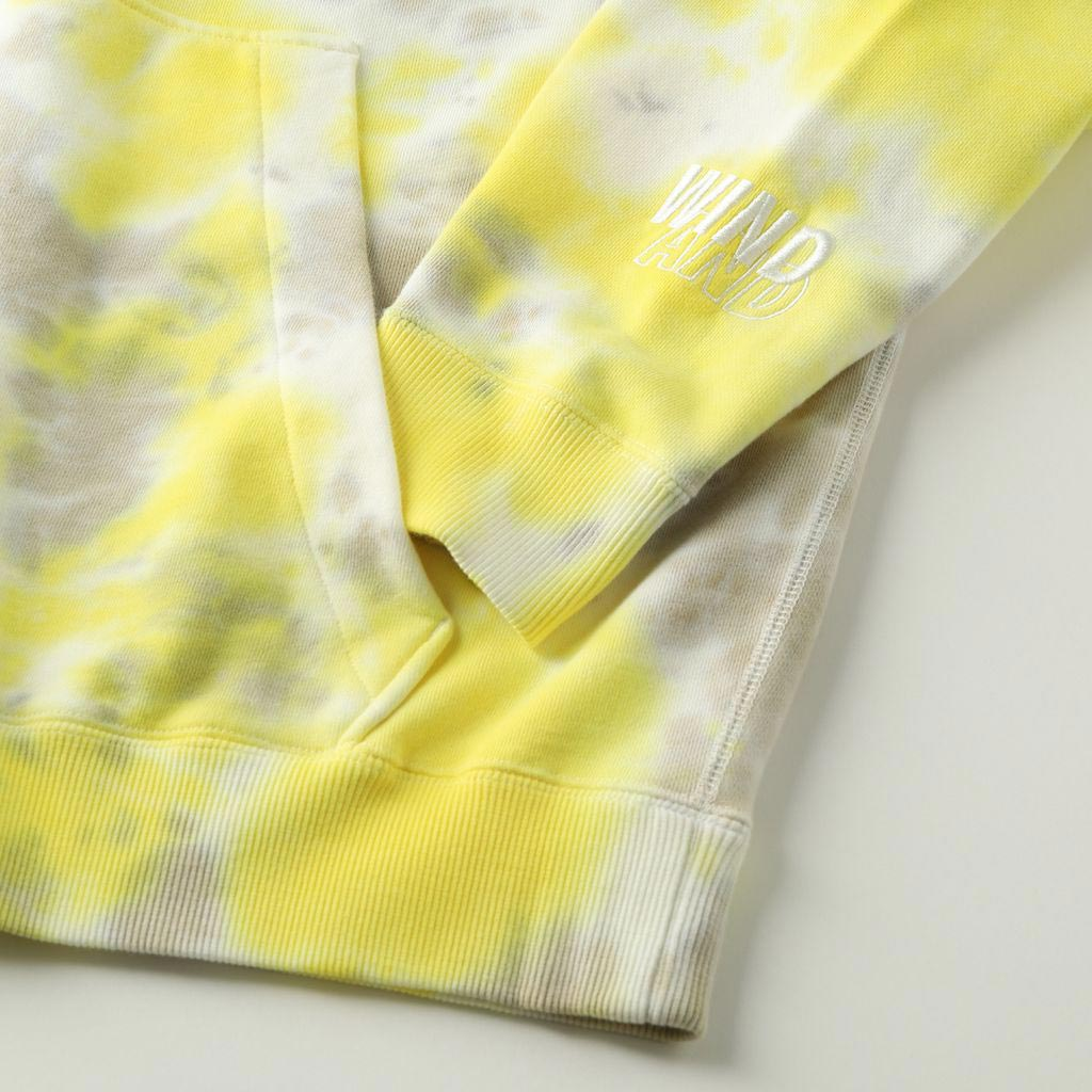 WIND AND SEA / SEA (tie-dye) HOODIE (YELLOW-GRAY)