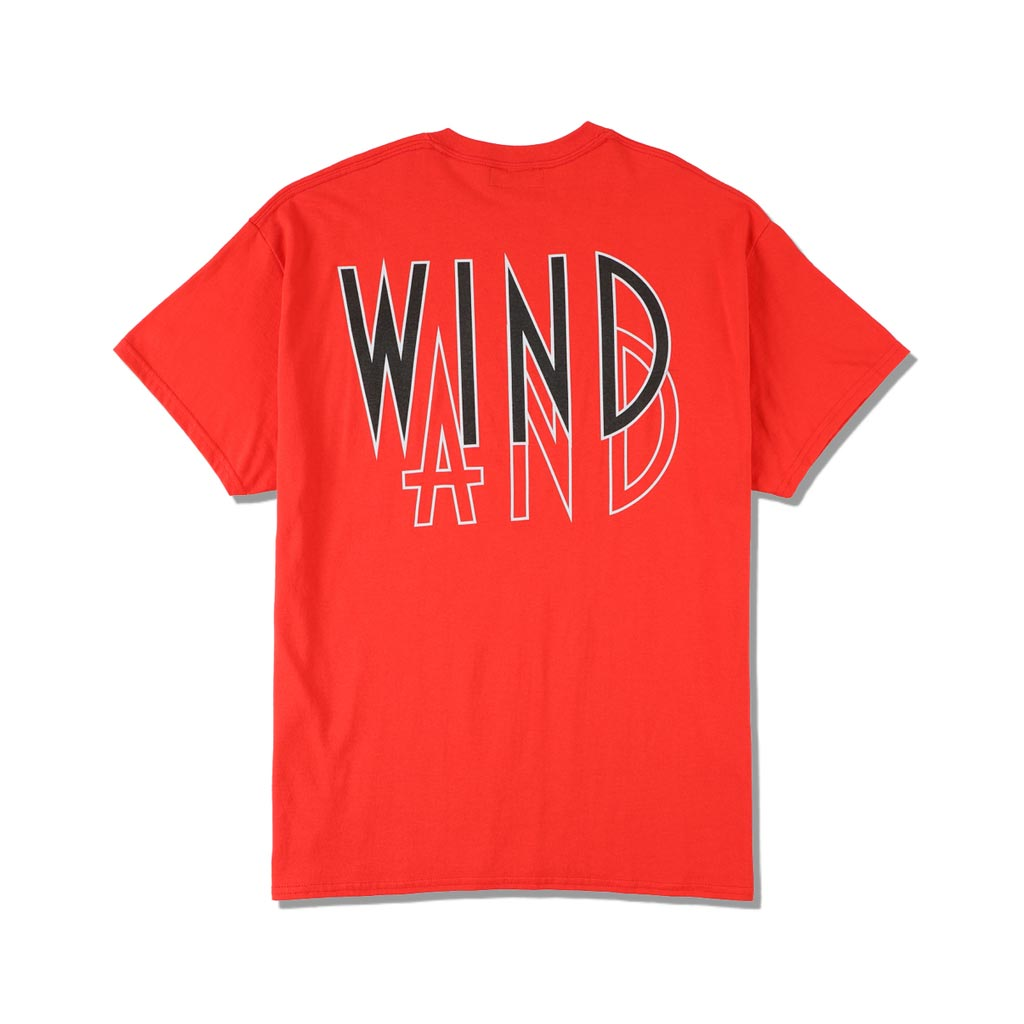 WIND AND SEA / SEA (wavy) T-SHIRTS (RED)