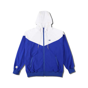 WIND AND SEA / WDS HOODED ZIP-UP JACKET(TR) (BLUE)