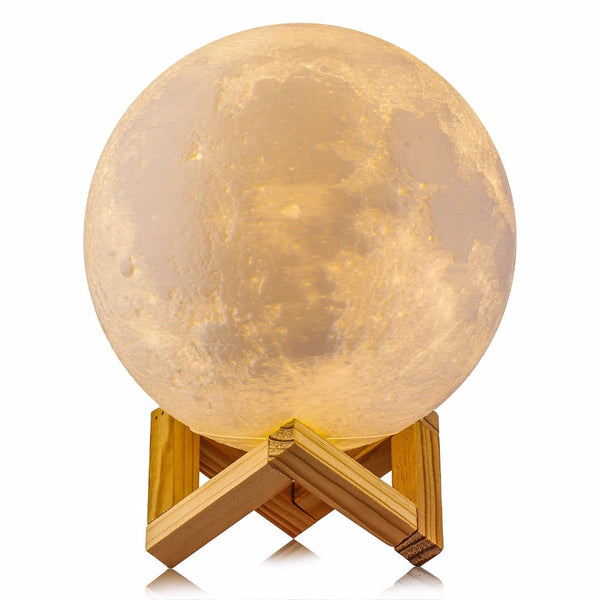 -Rechargeable 3D Print Moon Lamp-