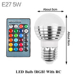 -LED Remote Control Color Light Bulb-