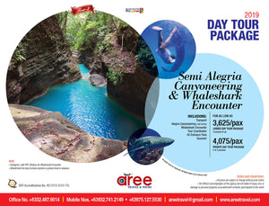 DAY TOUR PACKAGE-Semi Alegria Canyoneering & Whaleshark Encounter - AREE TRAVEL & TOURS