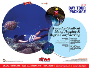 DAY TOUR PACKAGE-Pescador-Moalboal Island Hopping & Alegria Canyoneering - AREE TRAVEL & TOURS