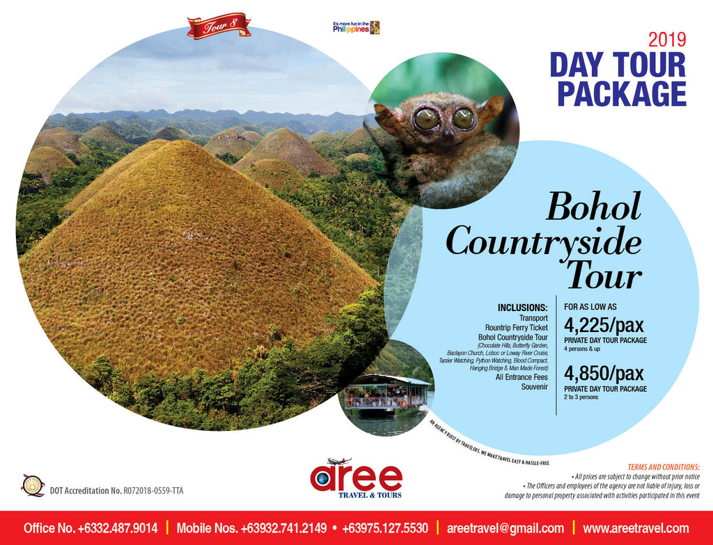 DAY TOUR PACKAGE-Bohol Countryside Tour - AREE TRAVEL & TOURS