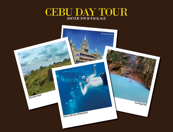 CEBU DAY TOUR PACKAGE OPTION 1 ( WHALESHARK, TUMALOG FALLS, OSMEÑA PEAK, SIMALA )