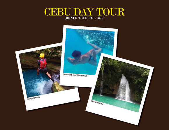 CEBU DAY TOUR PACKAGE OPTION 2 ( WHALESHARK, ALEGRIA CANYONEERING, KAWASAN FALLS )