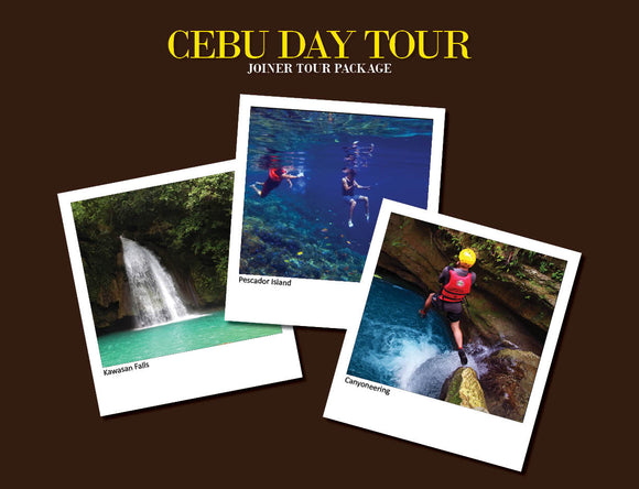 CEBU DAY TOUR PACKAGE OPTION 4 ( PESCADOR ISLAND HOPPING, CANYONEERING , KAWASAN FALLS )