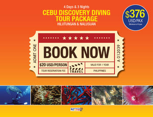 4D/3N CEBU DISCOVERY DIVING TOUR PACKAGE HILUTUNGAN & NALUSUAN $376 USD/PAX - AREE TRAVEL & TOURS