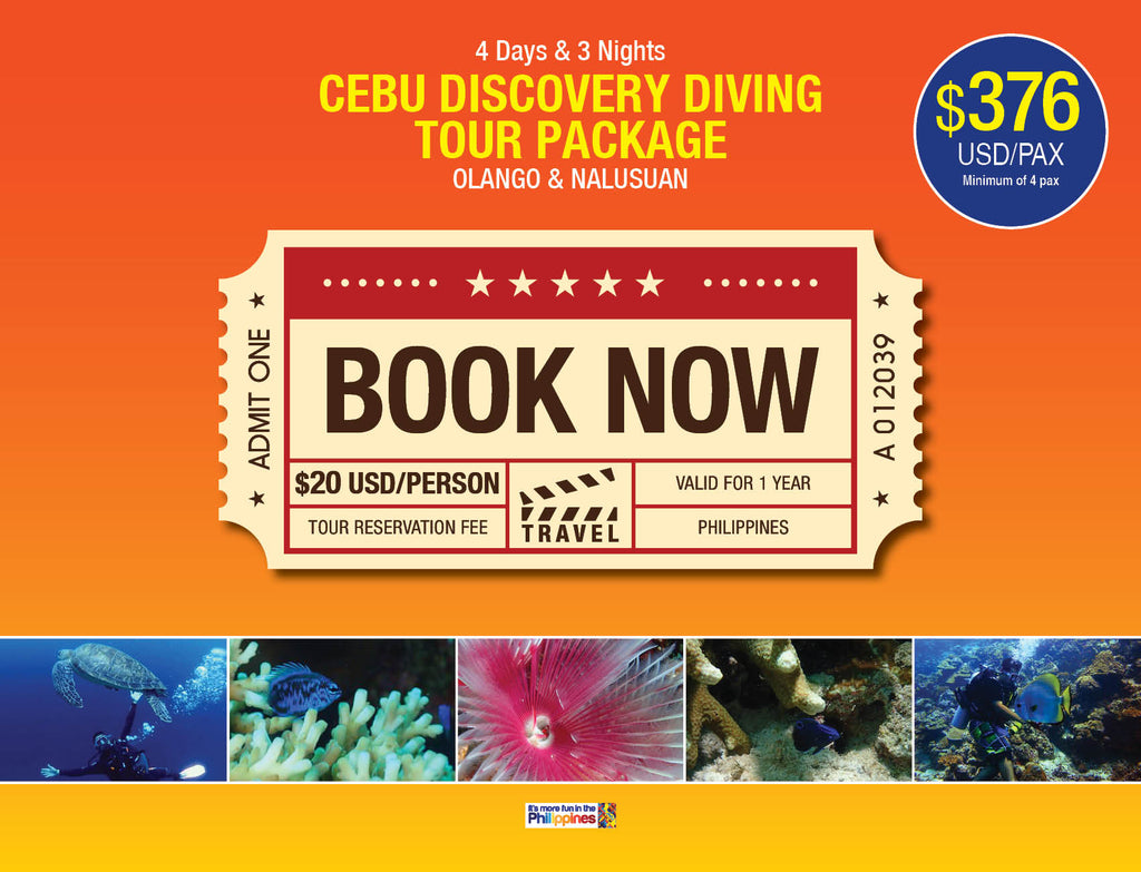 4D/3N CEBU DISCOVERY DIVING TOUR PACKAGE OLANGO & NALUSUAN $376 USD/PAX - AREE TRAVEL & TOURS