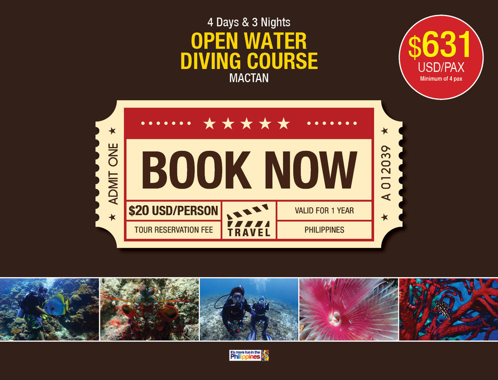4D/3N OPEN WATER DIVING COURSE MACTAN $631 USD/PAX - AREE TRAVEL & TOURS