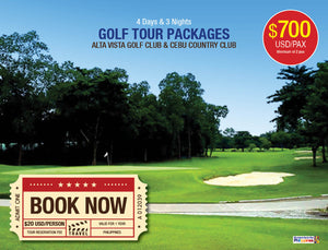4D/3N CEBU GOLF TOUR PACKAGES- Cebu Country Club and Alta Vista Golf Club - AREE TRAVEL & TOURS