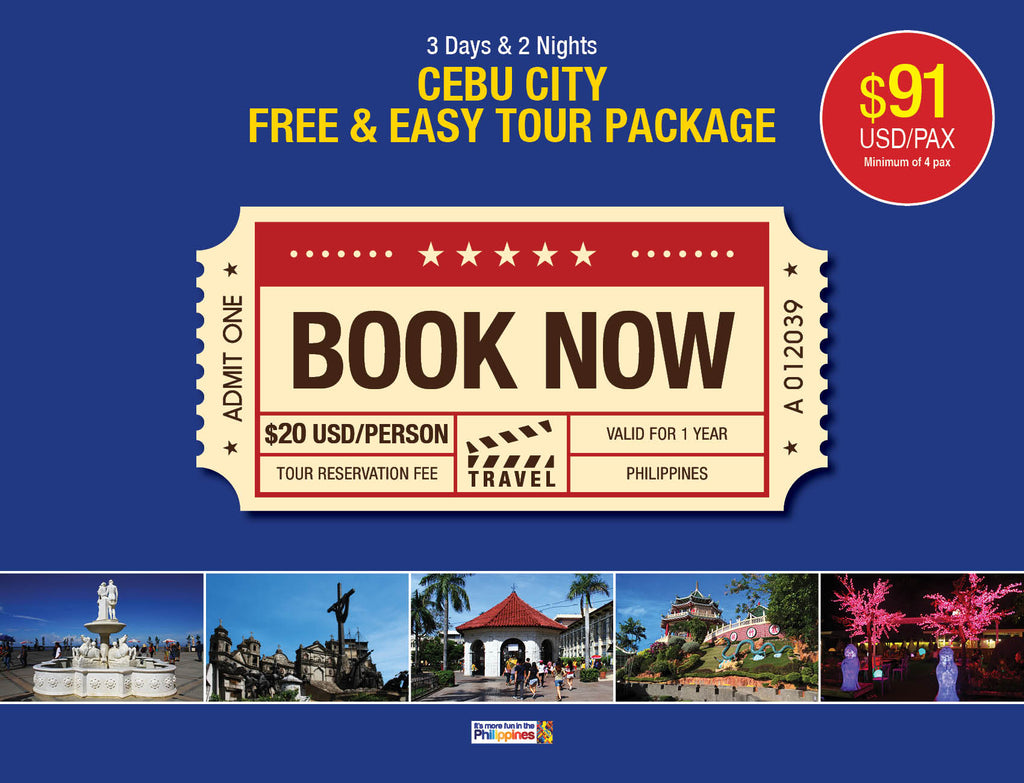 3 Days/2 Nights CEBU CITY FREE & EASY TOUR PACKAGE $91 USD/PERSON - AREE TRAVEL & TOURS