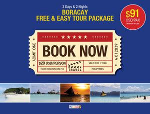 3 Days/2 Nights BORACAY FREE & EASY TOUR PACKAGE $91 USD/PERSON - AREE TRAVEL & TOURS