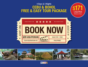 4 Days/3 Nights CEBU-BOHOL FREE & EASY TOUR PACKAGE $171 USD/PERSON - AREE TRAVEL & TOURS