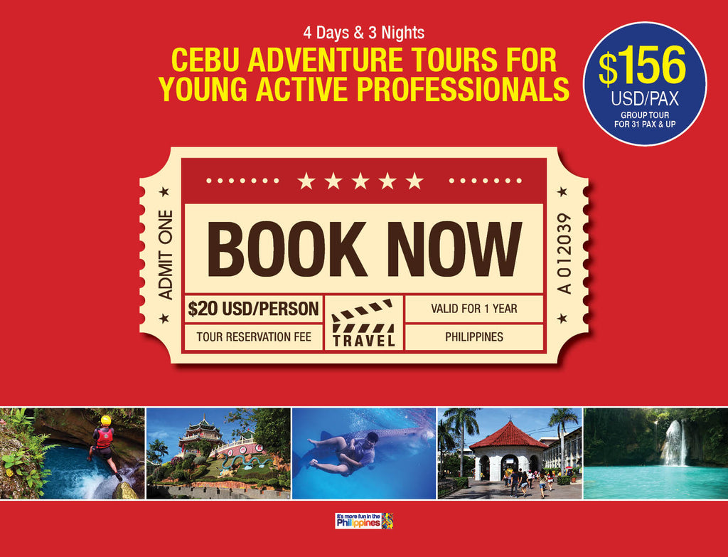4D/3N CEBU ADVENTURE TOURS FOR YOUNG ACTIVE PROFESSIONALS - AREE TRAVEL & TOURS