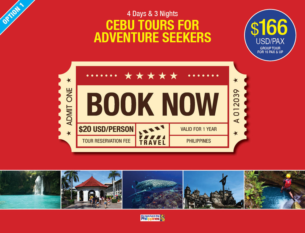 4D/3N (OPTION 1) CEBU TOURS FOR ADVENTURE SEEKERS - AREE TRAVEL & TOURS