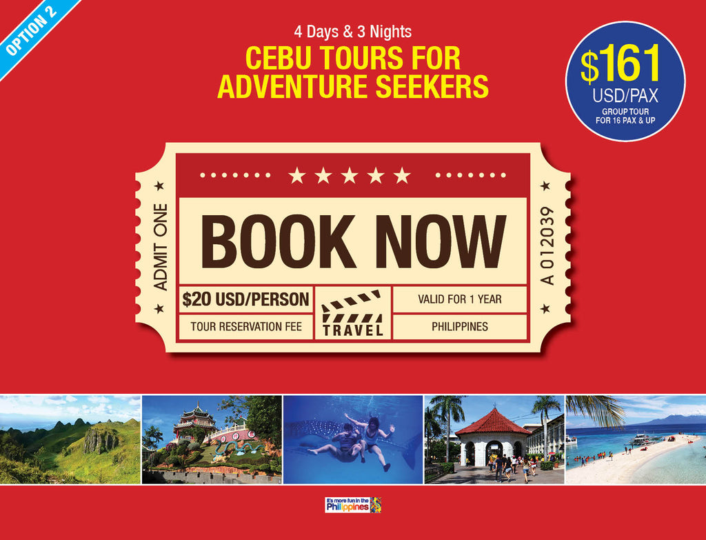 4D/3N (OPTION 2) CEBU TOURS FOR ADVENTURE SEEKERS - AREE TRAVEL & TOURS