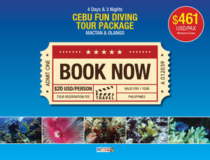 CEBU FUN DIVING TOUR PACKAGE MACTAN & OLANGO $461 USD/PAX - AREE TRAVEL & TOURS