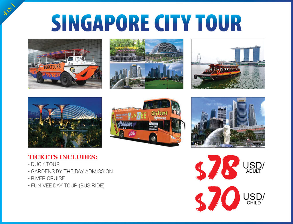 4 in 1 SINGAPORE CITY TOUR - AREE TRAVEL & TOURS