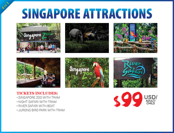 4 in 1 SINGAPORE ATTRACTIONS - AREE TRAVEL & TOURS
