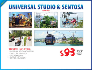 4 in 1  UNIVERSAL STUDIO & SENTOSA - AREE TRAVEL & TOURS
