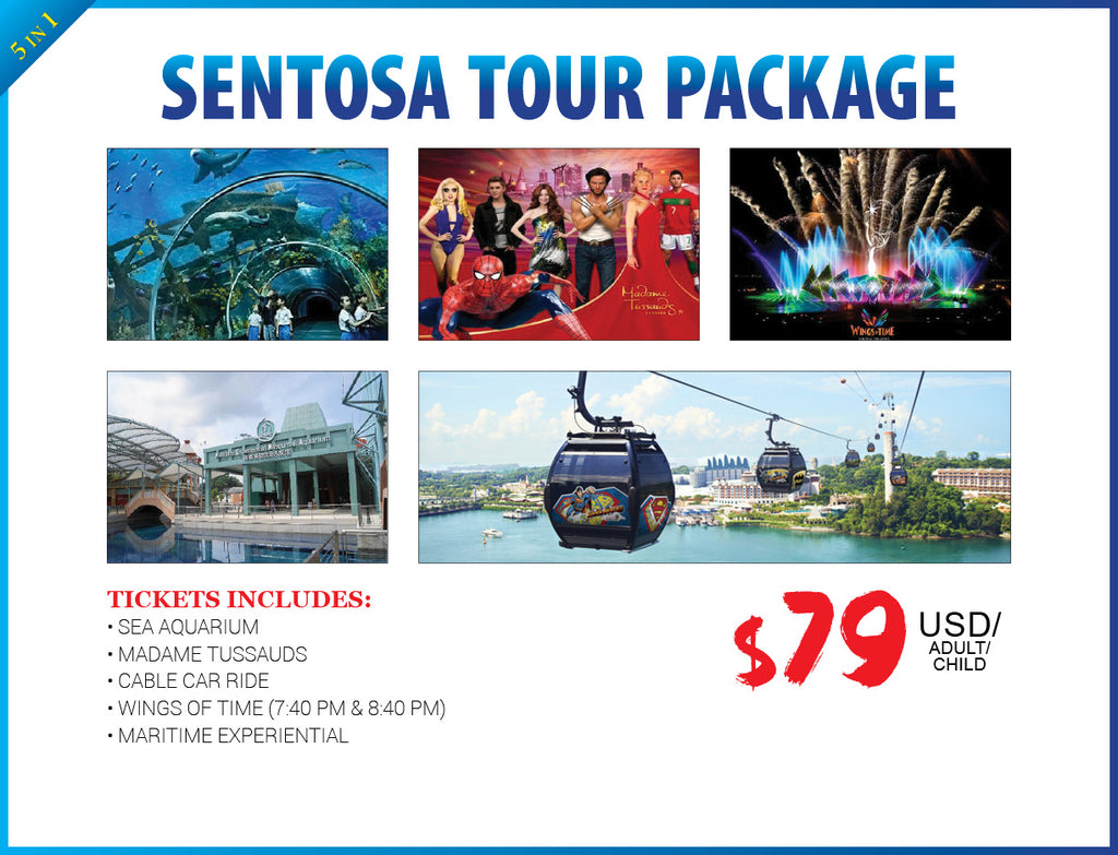 5 in 1 SENTOSA TOUR PACKAGE