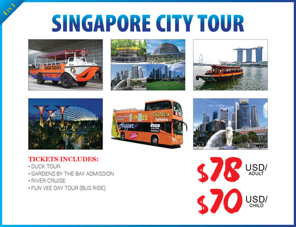 4 in 1 SINGAPORE CITY TOUR