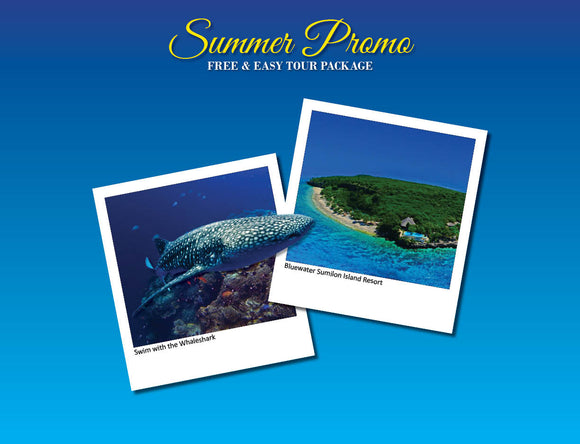 3D/2N SOUTH CEBU TOUR ADVENTURE  OPTION 2 ( OSLOB WHALESHARK & SUMILON BLUEWATER DAY USED)