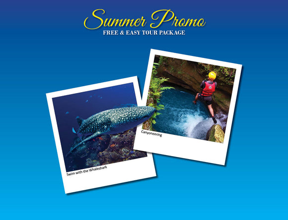 3D/2N SOUTH CEBU TOUR ADVENTURE  OPTION 3 ( OSLOB WHALESHARK, ALEGRIA CANYONEERING )
