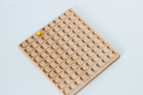 Wooden skip counting board handmade in the United States.