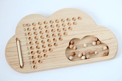 Wooden Cloud Number Board
