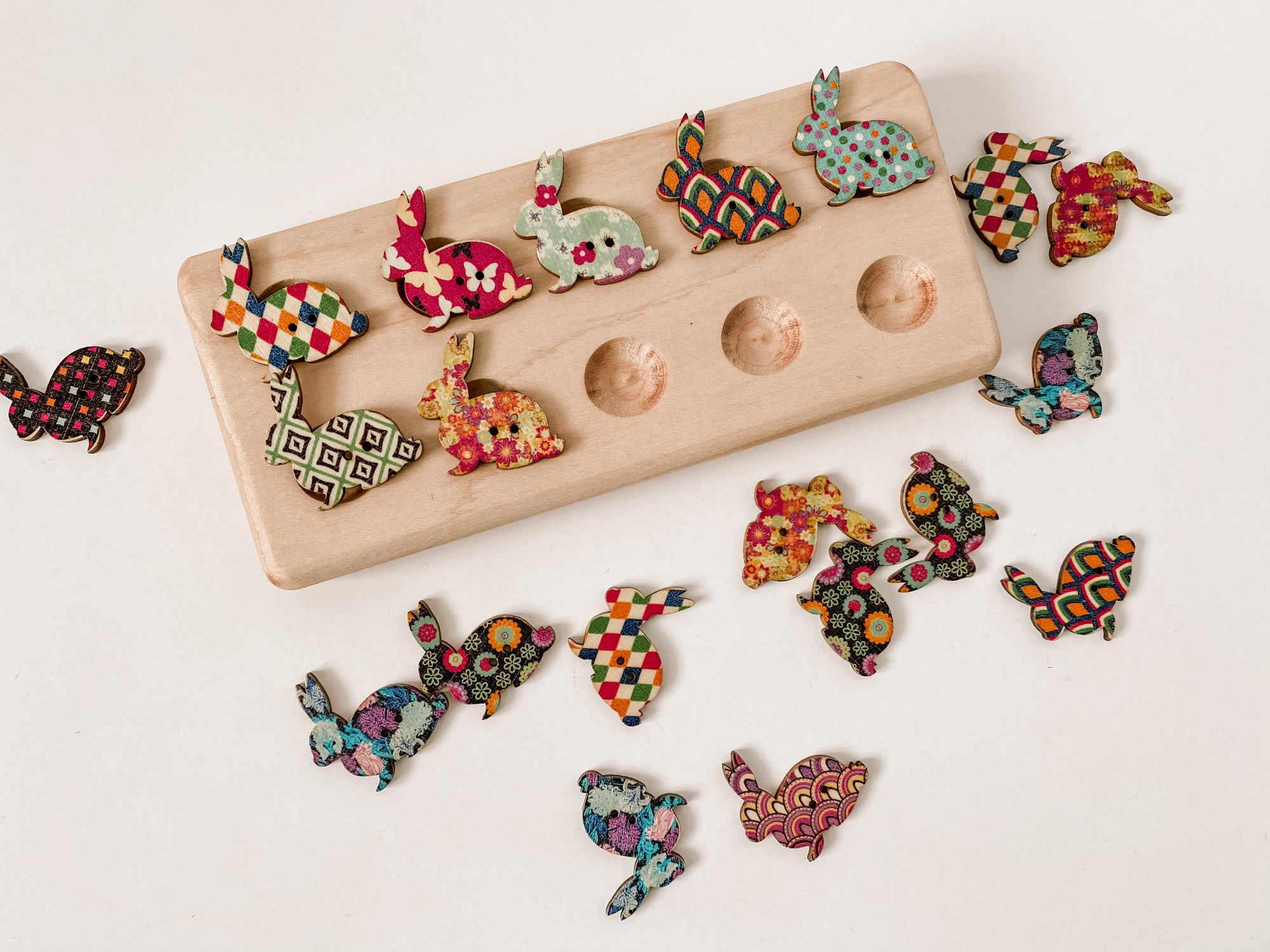 Wooden Bunny Counters (Limited Edition & Limited Quantities)