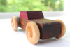 Children's heirloom wooden toy car made with organic and all natural materials.