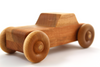 Cherry wooden toy car for children.