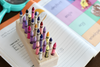 Kids wooden crayon holder with 24 holes for 24 Crayola crayons.