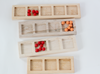 Empty word building frames for use with our wooden alphabet letters or use them as activity trays.