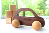 Baby push along toy car personalized with the name Holden.