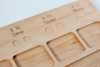 Wooden money activity sorting board for kids.