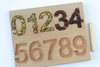 Montessori number tracing 1-10 board.