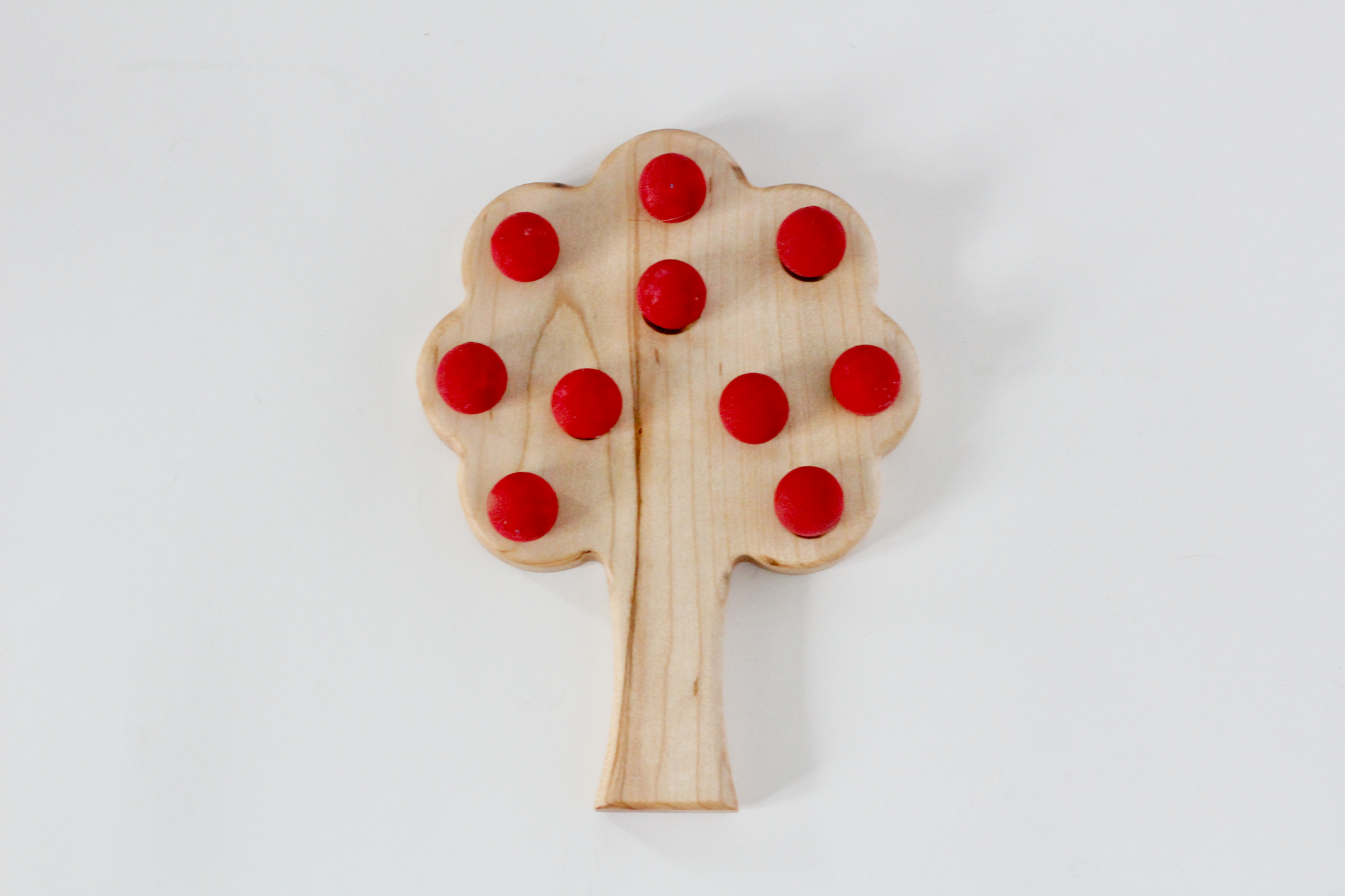 Tree shaped ten frame for early math learning.