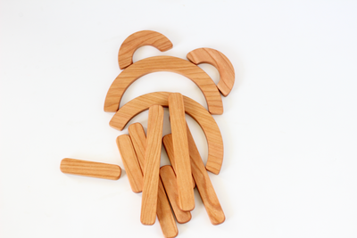 Wooden letter builder educational learning aid for preschool.