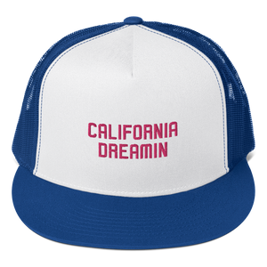 California Dreamin Pink Trucker Hat