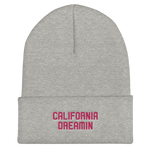 California Dreamin Pink Cuffed Beanie