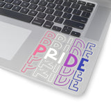 "Genderfluid Pride ""PRIDE"" Kiss-Cut Stickers"